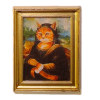 Important Cat Framed Picture - Mona Lisa