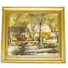 Currier and Ives The Old Mill Stream Framed Picture