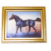 Gilded Frame Black Horse Picture
