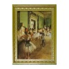 Degas Ballet Lesson Picture in Ornate Golden Frame