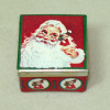 Opening Santa Claus Christmas Cookie or Candy Tin