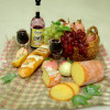 Deluxe Wine, Cheese, Fruit, and Bread Picnic Set