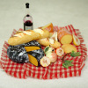 Complete Deluxe Wine, Cheese, Fruit and Bread Picnic Set