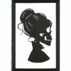 Large Female Skull Silhouette Portrait
