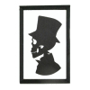 Formal Skeleton Silhouette Portrait