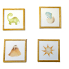 Set of Four Nursery Pictures - Dinosaurs