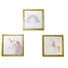 Set of Three Nursery Pictures - Unicorns and Rainbow