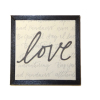 Wood Framed Love Print