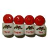 Handcrafted Christmas Holly Canister Set