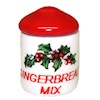 Handcrafted Ceramic Gingerbread Mix Christmas Canister