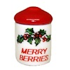 Christmas Holly Merry Berries Canister with Lid