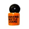 Handcrafted Ceramic Halloween Powdered Beetle Livers Canister