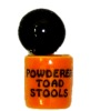 Handcrafted Ceramic Powdered Toadstools Halloween Canister