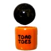 Handcrafted Ceramic Halloween Toad Toes Canister