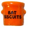 Handcrafted Ceramic Bat Biscuits Halloween Crock