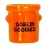 Handcrafted Ceramic Goblin Goodies Halloween Crock