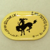 Handcrafted Large Western Cowboy Horse Bronco Platter