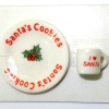 Handcrafted Christms Santa Milk Mug And Cookies Plate
