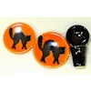 Handcrafted Ceramic Halloween Black Cat Place Setting