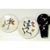Handcrafted Halloween Dancing Skeleton Place Setting