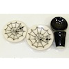 Handcrafted Ceramic Halloween Spider Web Place Setting