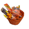 Halloween Trick or Treat Candy in Woven Basket