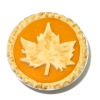 Handcrafted Thanksgiving Pumpkin Pie With Maple Leaf Design