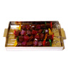 Handcrafted Shish Kebob Skewers on Metal Tray