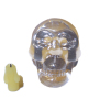 Large Faux Crystal Halloween Skull and Candle