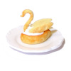 Artisan Crafted Swan Cream Puff Pastry Dessert on Plate