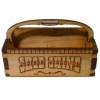 Handcrafted Wood Shoe Shine Box Basket with Handle