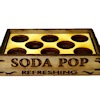 Handcrafted Wood Soda Pop Tray with Bottle Holder Insert