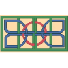 Abstract Design Cross Stitch Rug Pattern