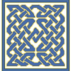 Blue Celtic Rug Cross Stitch Rug Pattern