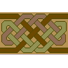 Celtic Weave Neutrals Runner Cross Stitch Rug Pattern