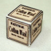 Handcrafted Vintage Cotton Wool Box