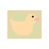 Peach Ducky Rug Cross Stitch Rug Pattern
