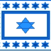 Jewish Star of David Cross Stitch Rug Pattern