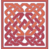 Terra Cotta Celtic Rug Cross Stitch Rug Pattern