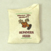 Handcrafted Filled Christmas Reindeer Feed Bag