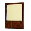 Ashley Modern Wood Frame Mirror - Spice