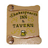 Lorraine Heller Handpainted Wood Shakespeare's Inn & Tavern Sign