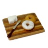 Lola Originals Bagel With Cream Cheese on Wood Cutting Board