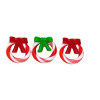 Lola Originals Handcrafted Tiny Candy Cane Christmas Wreaths
