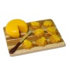 Lola Originals Cheese And Crackers on Wood Cutting Board