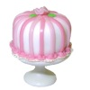 Lola Originals Valentine Cake with Pink Rose and Stripes