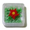 Lola Originals Filled Poinsettia Green Christmas Candy Box