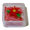 Lola Originals Filled Poinsettia Christmas Red Candy Stick Box