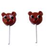 Lola Originals Chocolate Bear Suckers Lollipops