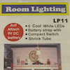 Micro Mini LED Room Lighting - Cool White, 9v Battery Operated